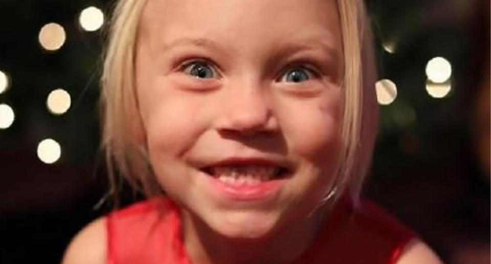 Summer Wells, 5, is pictured.