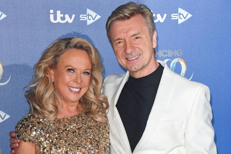 Jayne Torvill and Christopher Dean during the Dancing On Ice 2019 photocall at ITV Studios on December 09, 2019 in London, England. (Photo by Stuart C. Wilson/Getty Images)