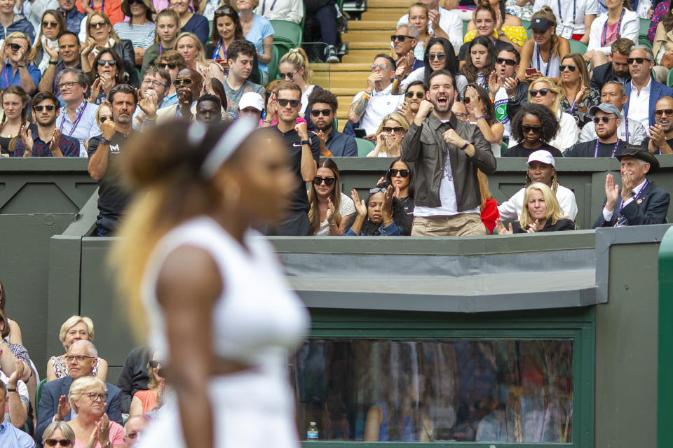 Alexis Ohanian supports Serena Williams.
