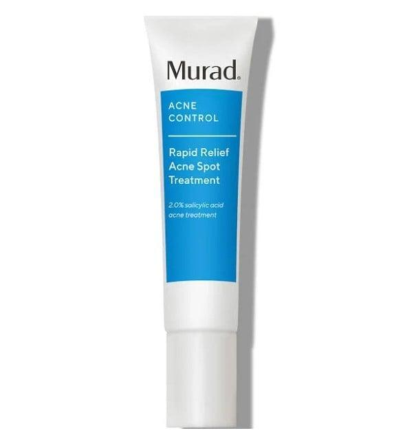 <p>Murad's <span>Acne Control Rapid Relief Acne Spot Treatment</span> ($23) is great for sensitive skin and reduces inflammation with sulfur as its base ingredient.</p>