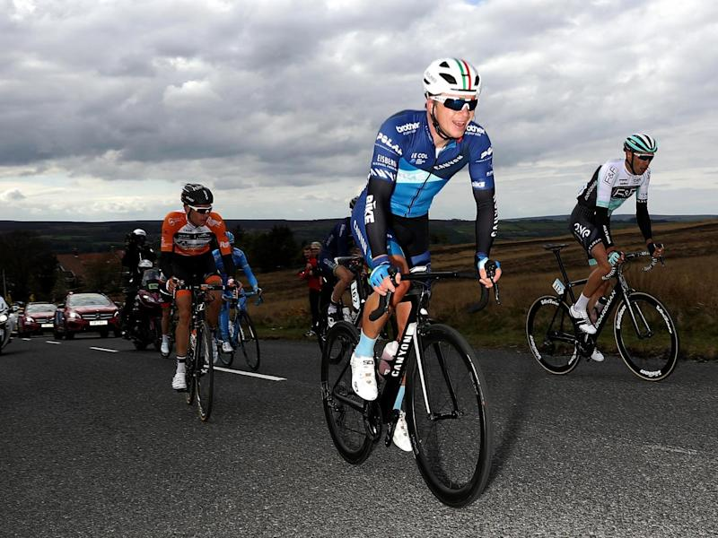 James Lowsley Williams of Great Britain rides in the breakaway group (Getty)