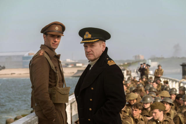 "James D'Arcy, left, and Kenneth Branagh in a scene from the film ""Dunkirk"" (Photo: Melissa Sue Gordon/Warner Bros. Pictures via AP)"