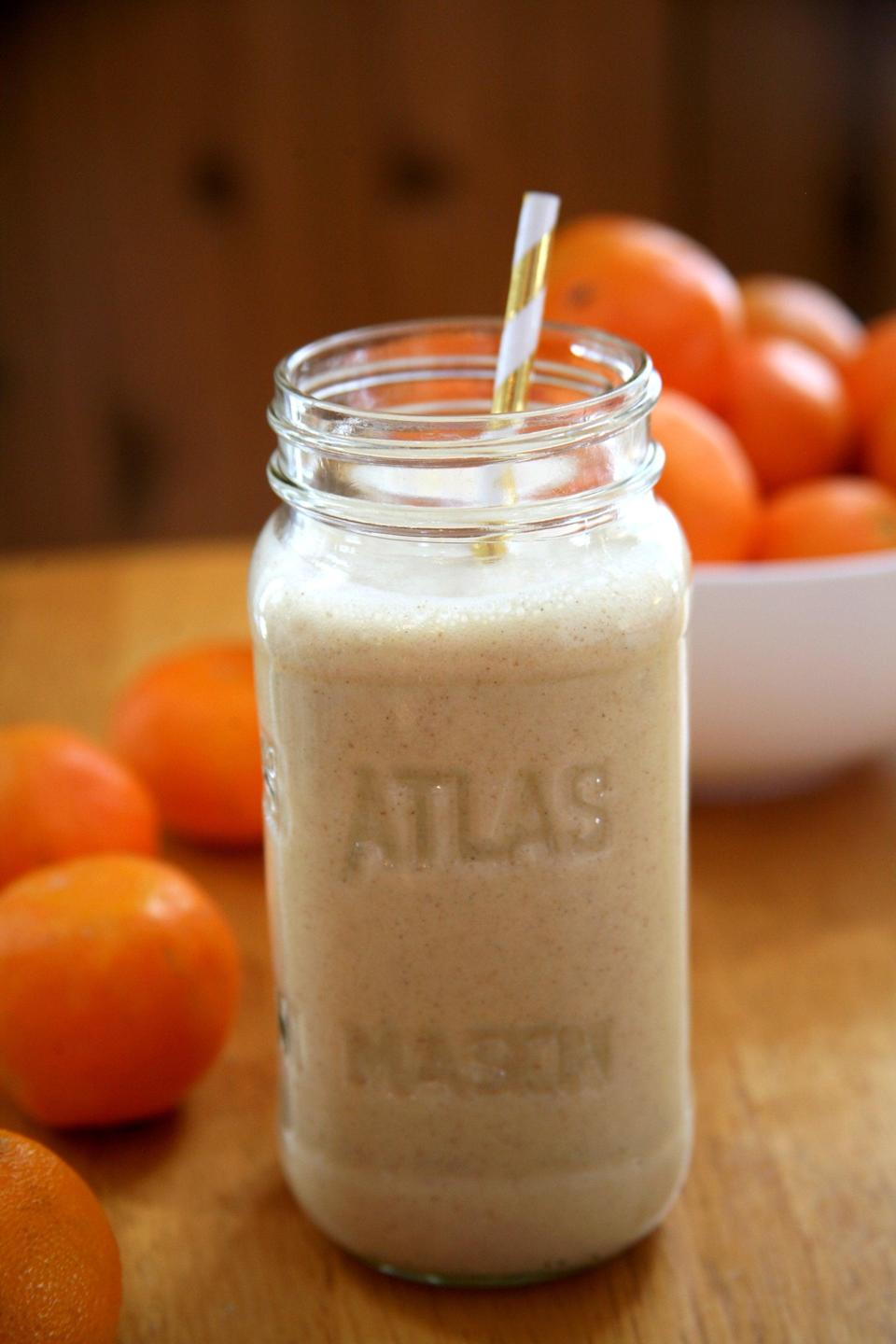 "<p>For the thrill-seeking, adventurous, and passionate Aries, start your day right with this zesty citrus smoothie.</p> <p><strong>Get the recipe:</strong> <a href=""https://www.popsugar.com/fitness/Clementine-Protein-Smoothie-42794673"" class=""link rapid-noclick-resp"" rel=""nofollow noopener"" target=""_blank"" data-ylk=""slk:vanilla clementine smoothie"">vanilla clementine smoothie</a></p>"