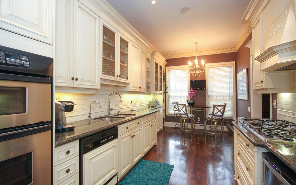 <p>The fully-equipped kitchen has a combined breakfast area. (Royal LePage/BizzImage) </p>
