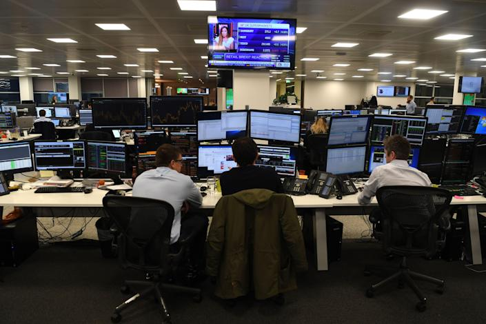 FTSE 100 has had a three positive trading sessions  (AFP via Getty Images)