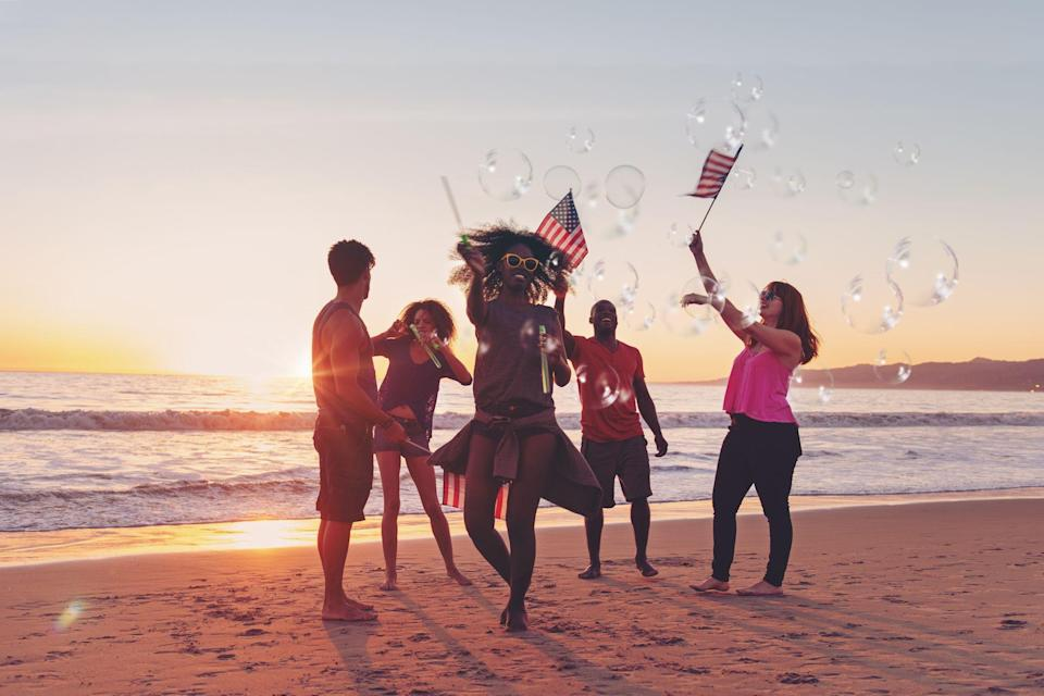"""<p>We're all set to cue the music and the fireworks this summer. Celebrating American independence is a breeze with our list of Fourth of July songs. Plan holiday festivities with our patriotic <a href=""""https://www.goodhousekeeping.com/4th-of-july-ideas/"""" rel=""""nofollow noopener"""" target=""""_blank"""" data-ylk=""""slk:4th of July ideas"""" class=""""link rapid-noclick-resp"""">4th of July ideas</a>, and get inspired by our best <a href=""""https://www.goodhousekeeping.com/food-recipes/g413/great-grilling-recipes/"""" rel=""""nofollow noopener"""" target=""""_blank"""" data-ylk=""""slk:gr"""" class=""""link rapid-noclick-resp"""">gr</a><a href=""""https://www.goodhousekeeping.com/food-recipes/g413/great-grilling-recipes/"""" rel=""""nofollow noopener"""" target=""""_blank"""" data-ylk=""""slk:ill"""" class=""""link rapid-noclick-resp"""">ill</a><a href=""""https://www.goodhousekeeping.com/food-recipes/g413/great-grilling-recipes/"""" rel=""""nofollow noopener"""" target=""""_blank"""" data-ylk=""""slk:ing recipes"""" class=""""link rapid-noclick-resp"""">ing recipes</a> and <a href=""""https://www.goodhousekeeping.com/food-recipes/easy/g4310/fourth-of-july-appetizers/"""" rel=""""nofollow noopener"""" target=""""_blank"""" data-ylk=""""slk:Fourth of July appetizers"""" class=""""link rapid-noclick-resp"""">Fourth of July appetizers</a>! The summer sun is shining on barbecues and pool parties from coast to coast. <br><br>Singing sensations and celebrated stars such as Whitney Houston and Dolly Parton will have you nostalgic for Independence Day picnics of the past. Our list of 4th of July songs includes pop tracks and classic tunes that celebrate independence and American living. This playlist is all about dancing, having fun and letting freedom ring! We've got you covered with patriotic tunes for celebrating America — whether you're poolside or spending summer days at the beach. <br></p><p>If you're planning on celebrating the holiday with your friends and family, you're going to be putting on your dancing shoes this summer with our playlist that will have you proud to be an American. Spend the holiday """