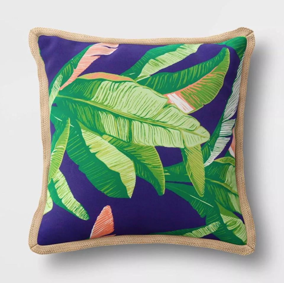 <p>Go for tropical vibes with the <span>Threshold Decorative Throw Pillow</span> ($35).</p>