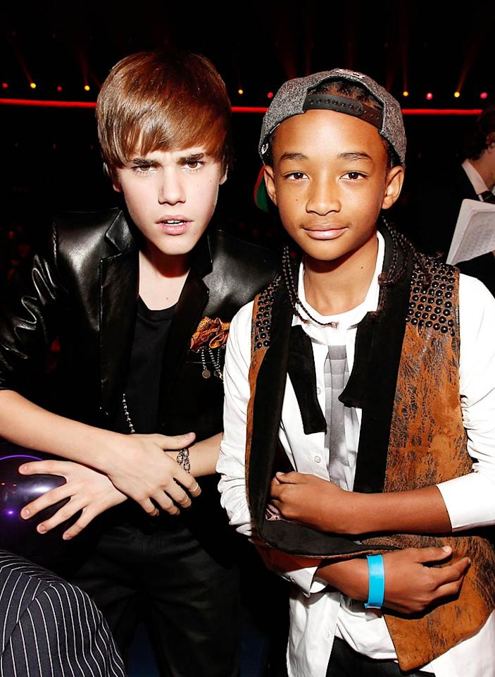 """Justin Bieber's friendship with """"Karate Kid"""" star Jaden Smith is on the rocks, reports <i>In Touch</i>, because Smith """"made a pass at and tried to dirty dance with Selena Gomez"""" at a party in Los Angeles. The magazine goes on to note that Bieber is """"furious"""" with 12-year-old Smith, who """"knows Justin has been after Selena for months!"""" For the inside dish on how ugly this love triangle has turned, log on to <a href=""""http://www.gossipcop.com/justin-bieber-jaden-smith-selena-gomez-love-triangle/"""" target=""""new"""">Gossip Cop</a>. Christopher Polk/AMA2010/<a href=""""http://www.gettyimages.com/"""" target=""""new"""">GettyImages.com</a> - November 21, 2010"""