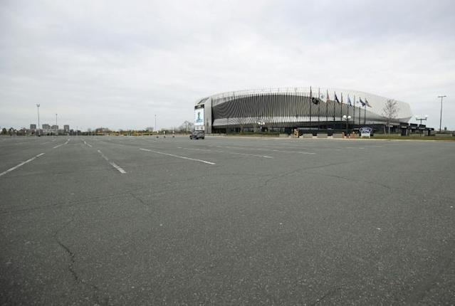 With the NHL season paused on March 12 due to the global COVID-19 outbreak, the New York Islanders home rink, Nassau Coliseum, has been closed to events (AFP Photo/BRUCE BENNETT)