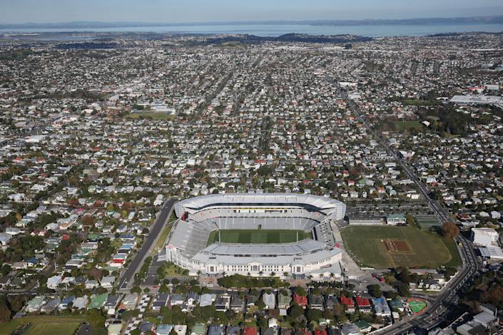 AUCKLAND, NEW ZEALAND - JUNE 04: An aerial view of Eden Park Stadium on June 4, 2014 in Auckland, New Zealand. (Photo by David Rogers/Getty Images)