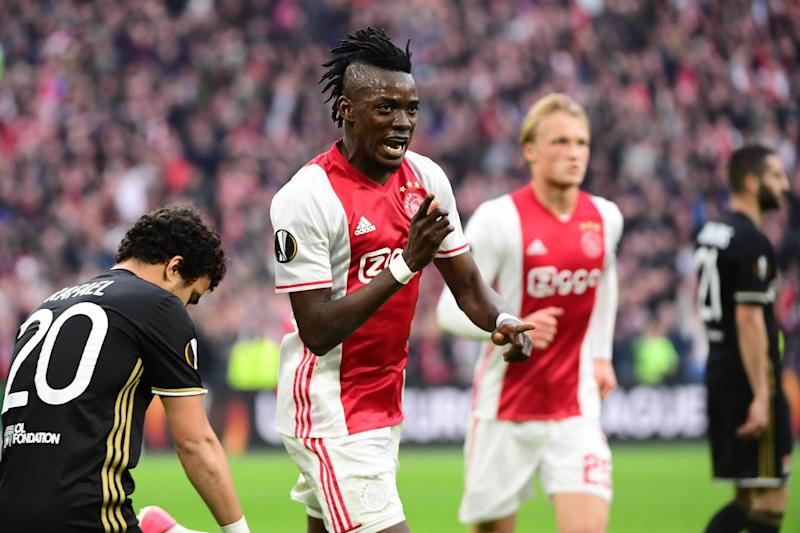 At the double: Traore scored two goals for Ajax against Lyon: AFP/Getty Images