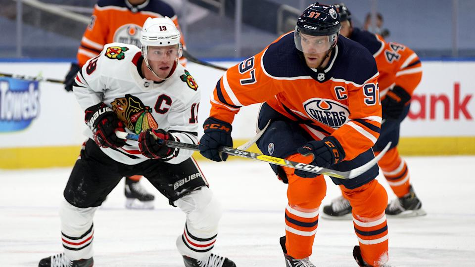 The Oilers are going to need more McDavid magic against the Blackhawks. (Photo by Dave Sandford/NHLI via Getty Images)