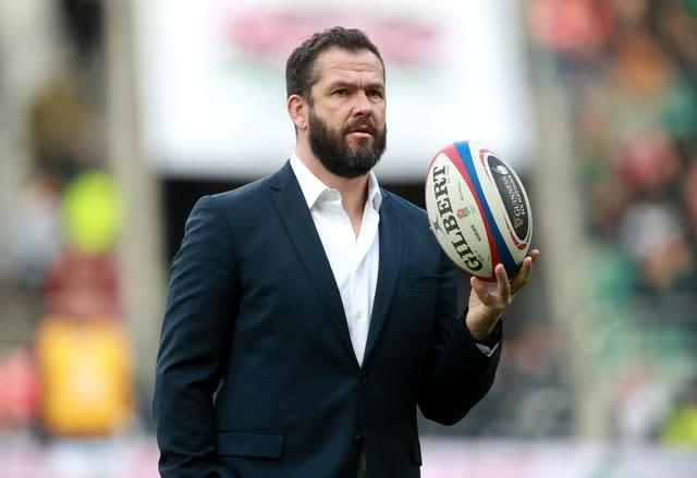 Ireland coach Andy Farrell will not be going to Australia (Adam Davy/PA)