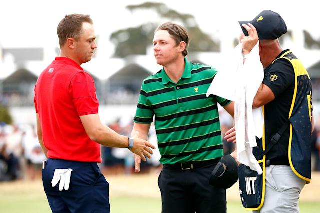 """<div class=""""caption""""> Smith's singles win over Justin Thomas at the Presidents Cup was a confidence booster. </div> <cite class=""""credit"""">Daniel Pockett/Getty Images</cite>"""