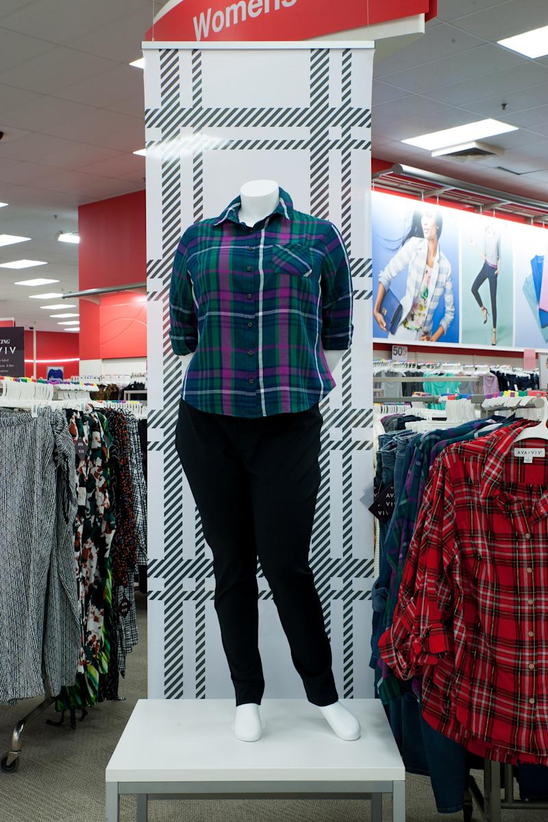 A mannequin on display at a Target store