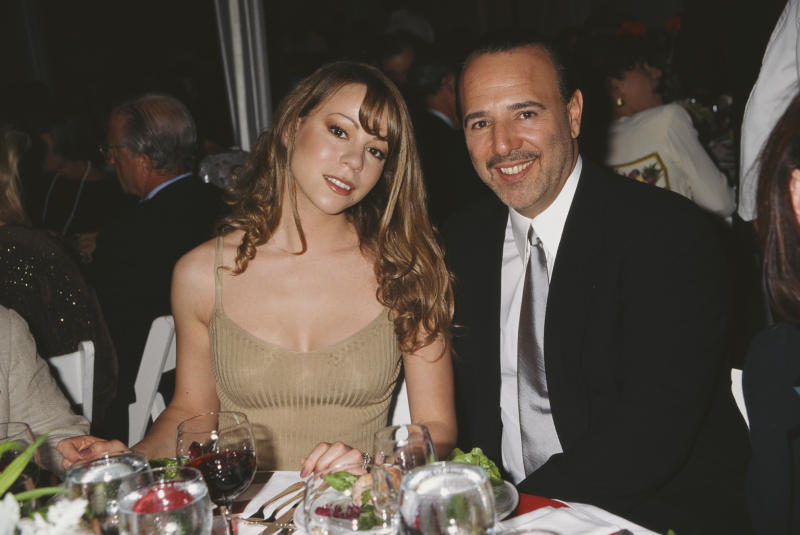 American singer-songwriter Mariah Carey and husband, American music executive, Tommy Mottola, attend the 'Salute to American Heroes Gala', 1995. (Rose Hartman/Archive Photos/Getty Images)