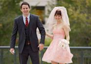 <p>A short pink wedding dress with a matching veil? I mean, how could you not love the dress Paige (Rachel McAdams) chose to wed Leo (Channing Tatum) in <em>The Vow</em>? </p>