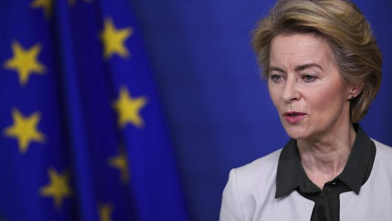 EU President Ursula von der Leyen has pledged to give 100 billion euros to poor countries so that they can deal with climate change. Image credit: AP