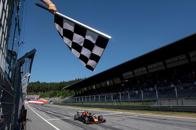 Verstappen took the checkered flag in Austria back in June. (Credit: Getty Images)