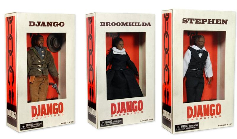 Django Unchained's banned action figures (credit: Weinstein Company)