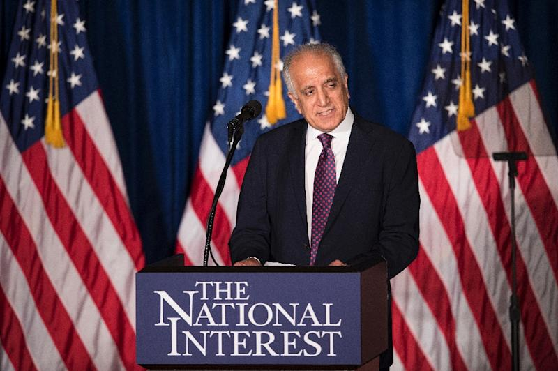 US peace envoy Zalmay Khalilzad, pictured in 2016, will travel to Afghanistan, China, India and Pakistan on the trip lasting through January 21