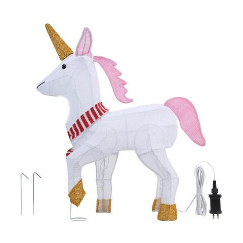 You know you need this light-up tinsel unicorn, $29 from Kmart. Photo: Kmart.