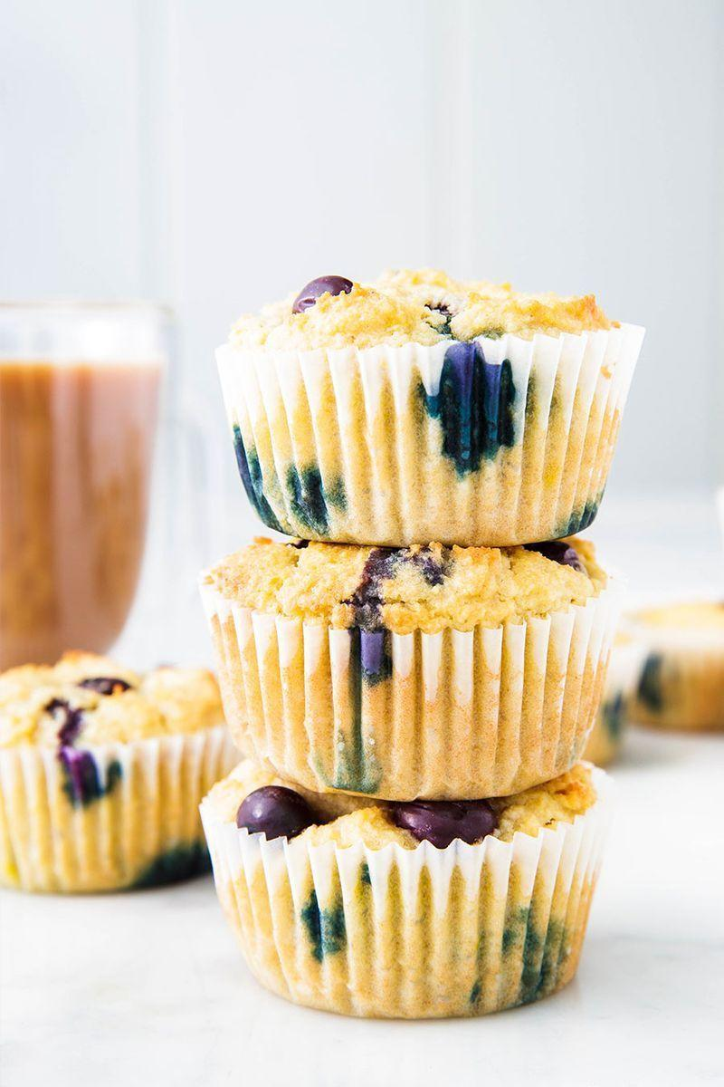"""<p>As much as we love a good cinnamon roll, chowing down on one isn't exactly the best way to start the day. These muffins were MADE for those cravings. They've got protein, fruit, AND they're sugar-free. Win/win/win!</p><p>Get the <a href=""""https://www.delish.com/uk/cooking/recipes/a29949065/keto-blueberry-muffins-recipe/"""" rel=""""nofollow noopener"""" target=""""_blank"""" data-ylk=""""slk:Keto Blueberry Muffins"""" class=""""link rapid-noclick-resp"""">Keto Blueberry Muffins</a> recipe.</p>"""