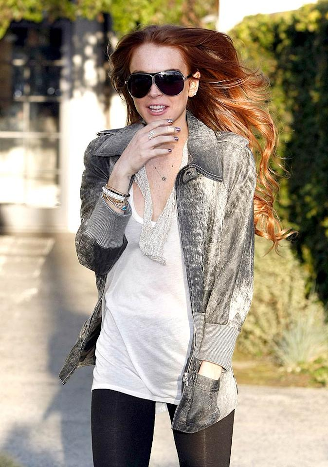 "New start, new 'do? A single Lindsay Lohan dyed her hair red at Beverly Hills' Byron & Tracey Salon on Wednesday. The actress also reportedly got a new tattoo. Jean Baptiste Lacroix/<a href=""http://www.wireimage.com"" target=""new"">WireImage.com</a> - April 8, 2009"