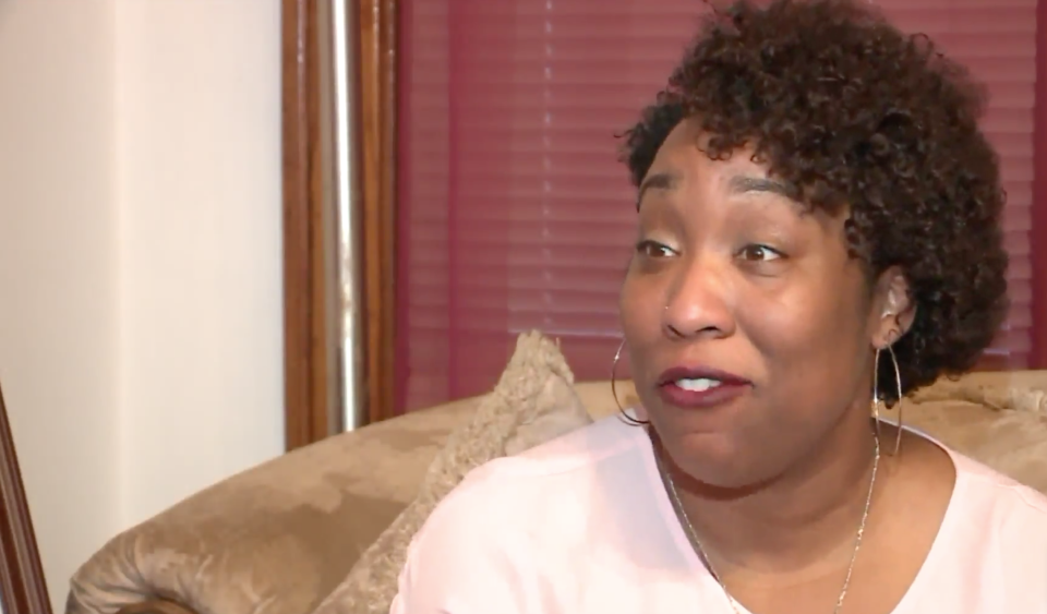 Dawn McDowell is in a legal battle with her Indiana next-door neighbor Richard Dean Wojtas, whom accuses of racial harassment. (Screenshot: WGN-TV)