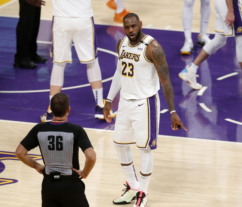 LeBron James and the Lakers are underdogs in Game 5 against Phoenix. (Gary Coronado / Los Angeles Times via Getty Images)