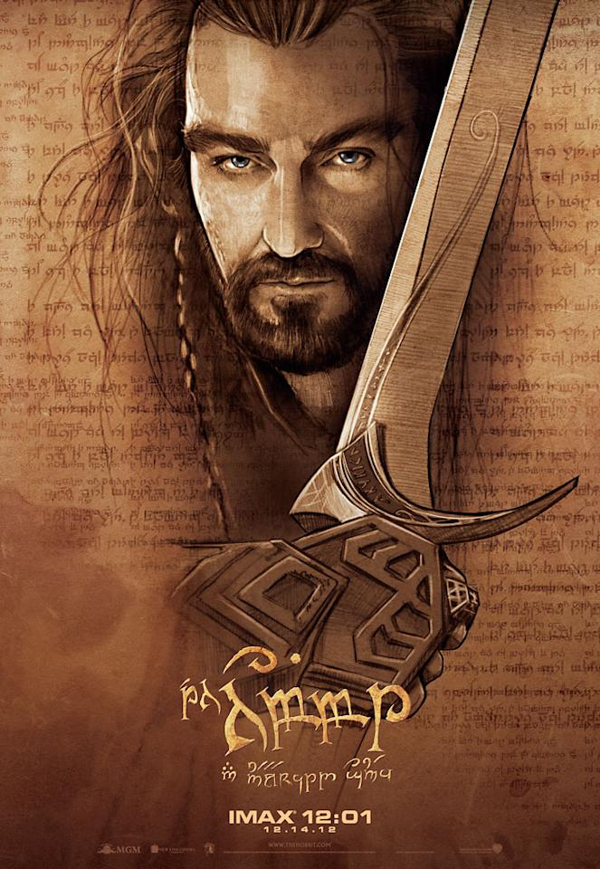 "Richard Armitage as Thorin in New Line Cinema's ""The Hobbit: An Unexpected Journey"" - 2012"