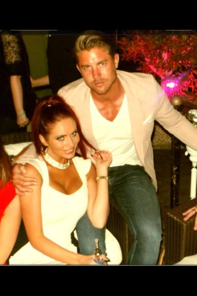Celebrity Twitpics: Reality TV star Amy Childs shared some of her holiday snaps with Twitter followers this week. This one shows her cosying up to her boyfriend, David, on a night out in Dubai. Well jel.