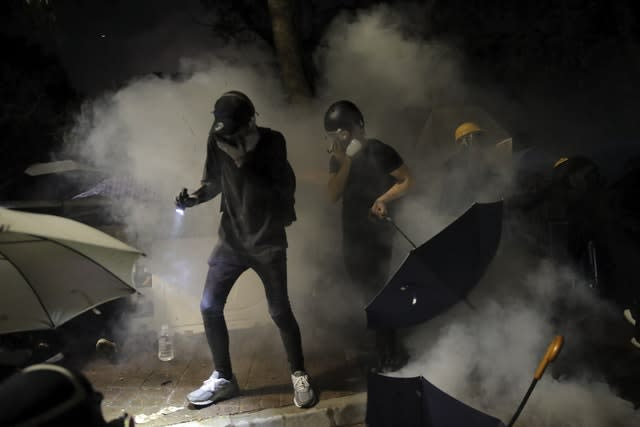 Students targeted with tear gas
