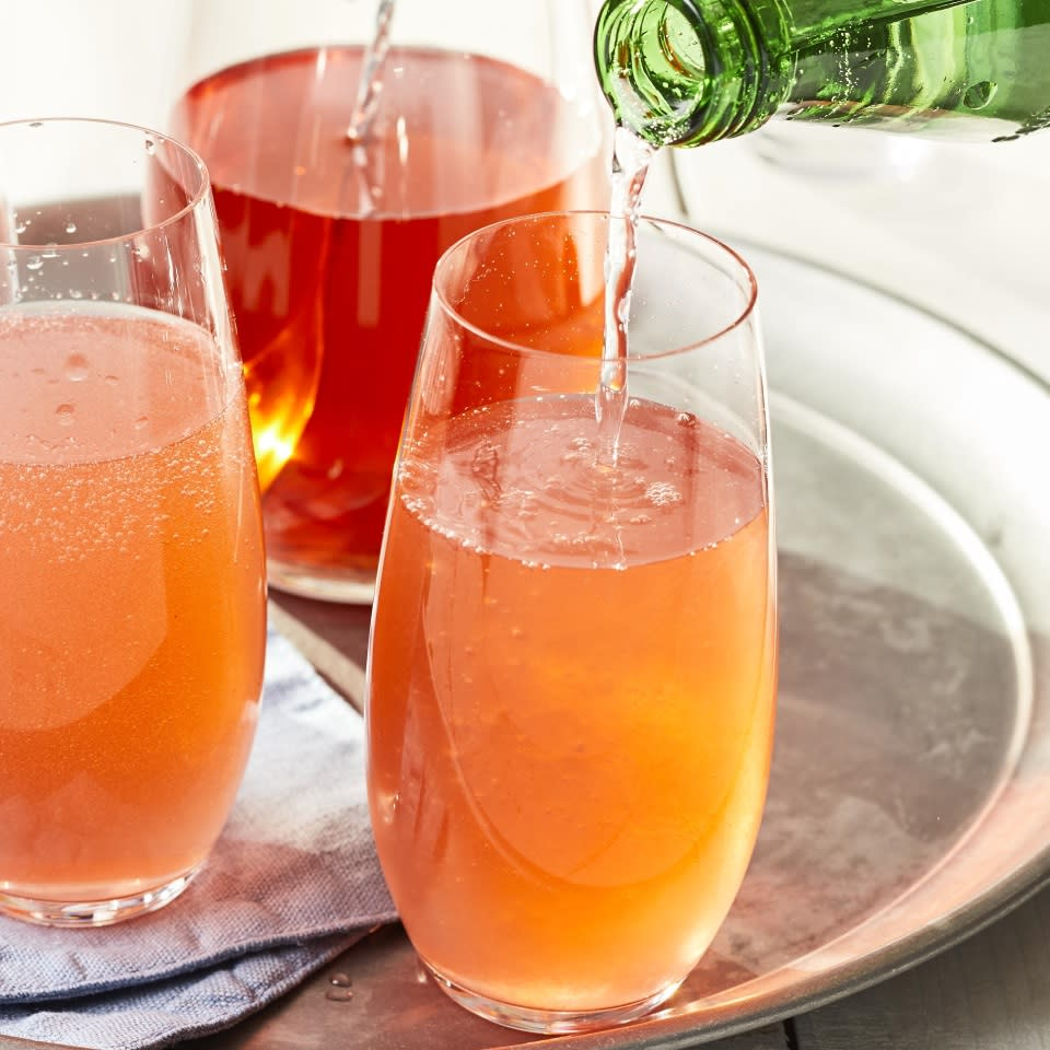 <p>You can easily multiply this strawberry shrub cocktail recipe to make a pitcher cocktail to serve a whole party: just muddle the strawberries, basil and lemon in a pitcher, then vigorously stir in the vodka, shrub, Campari and ice. Top each serving with seltzer.</p>