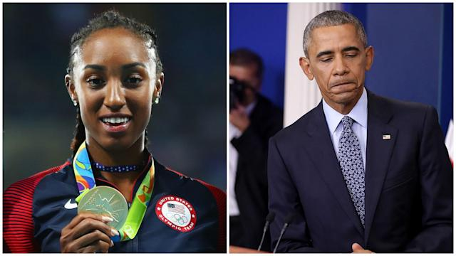 Olympic gold medallist Brianna Rollins was handed a 12-month ban for missing three drug tests, one while she was at the White House.