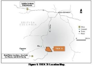 Figure 1: TREK 31 Location Map (CNW Group/Pacific Imperial Mines Inc.)
