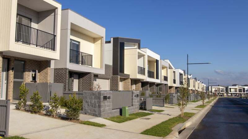 Sydney, Australia - 3rd June, 2019: New housing construction on the outer suburbs of Sydney.