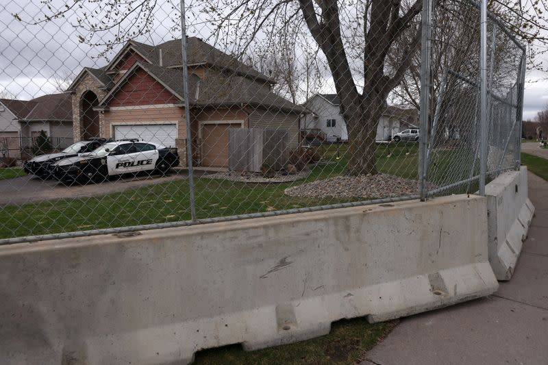 Police Guard Ex-Brooklyn Center Police Officer Kim Potter's home