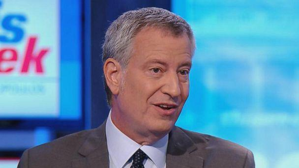 PHOTO: New York Mayorand 2020 Democratic Presidential Candidate Bill de Blasio appears on 'This Week With George Stephanopoulos,' July 28, 2019. (ABC News)