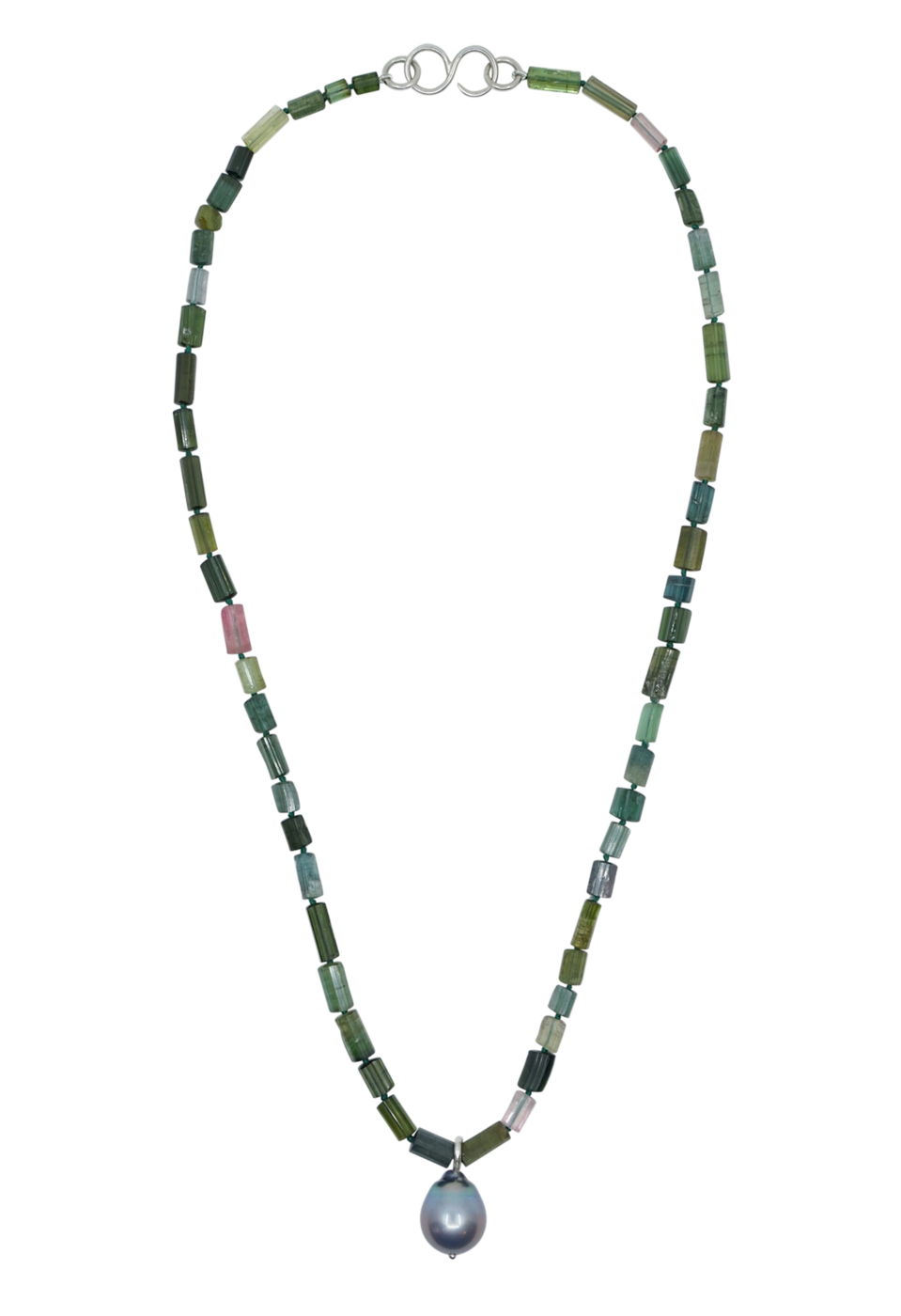 """<p><strong>Camille Beinhorn </strong></p><p>camillebeinhornjewelry.com</p><p><strong>$850.00</strong></p><p><a href=""""https://camillebeinhornjewelry.com/products/blue-tourmaline-and-pearl-necklace"""" rel=""""nofollow noopener"""" target=""""_blank"""" data-ylk=""""slk:Shop Now"""" class=""""link rapid-noclick-resp"""">Shop Now</a></p><p>All of Camille Beinhorn's pieces are crafted in New York City with recycled metals. This piece features tourmaline and Tahitian pearl, and the beads are hand-knotted with silk thread. It's perfect for your favorite friend.</p>"""