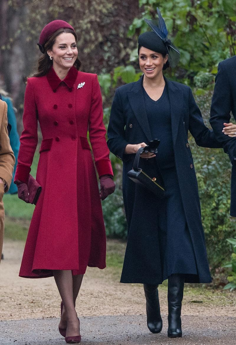 Meghan Markle Christmas.Kate Middleton And Meghan Markle Are Stylishly In Sync For
