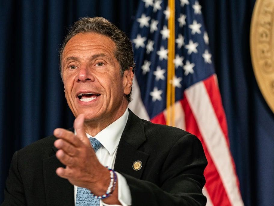 Governor Andrew Cuomo has been accused by Donald Trump of 'killing thousands of people' by mishandling the Covid-19 pandemic (Getty)
