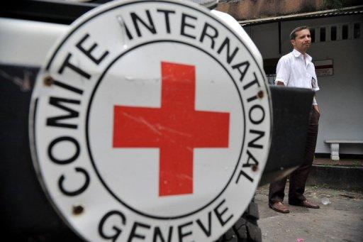 An ICRC official is seen in Colombia