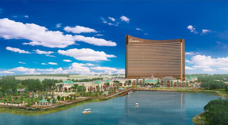 Rendering of Encore Boston Harbor.