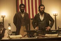 """<p>Newt Knight served as a medic for the Confederate Army. Knight's resistance to slavery causes him to be outlawed. As he is forced to flee Jones County, he creates an alliance with a group of runaway enslaved individuals to form a rebellion. </p> <p>Watch <a href=""""https://www.netflix.com/title/80080158"""" class=""""link rapid-noclick-resp"""" rel=""""nofollow noopener"""" target=""""_blank"""" data-ylk=""""slk:Free State of Jones""""><strong>Free State of Jones</strong></a> on Netflix now.</p>"""