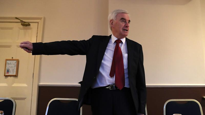 <p>John McDonnell added that Labour's alternative Brexit proposal could 'give a level of certainty' if the Government is defeated on Tuesday.</p>