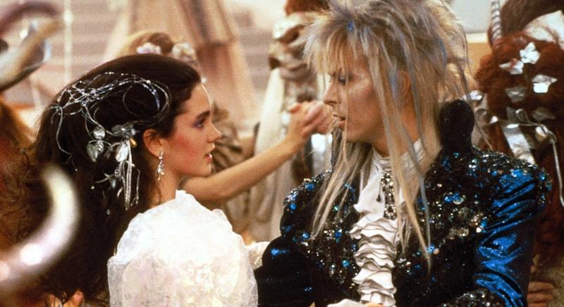 Jennifer Connolly and David Bowie in 1986's 'Labyrinth' (credit: Sony)