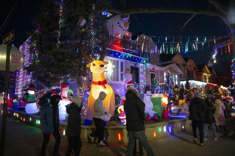 The quasi-suburban residential district features large single-family homes -- enormous by most standards, but certainly by New York's -- that in late November start to shimmer with elaborate holiday light displays