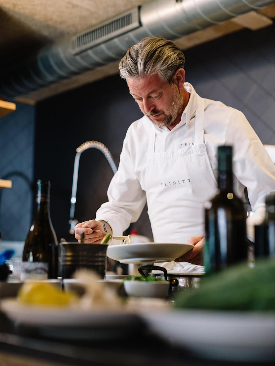 Byatt was named Imbibe's Restaurant Personality of the Year in 2017 for his impact on the London dining scene and commitment to nurturing young chefs' careers (Adam Byatt)