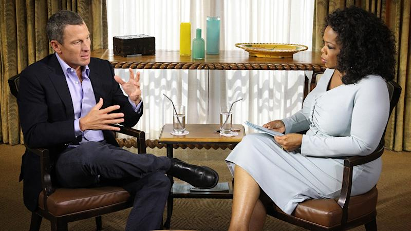 Oprah Winfrey and Lance Armstrong, pictured here during their interview in 2013.